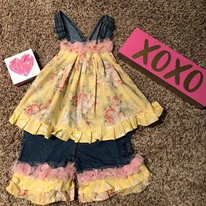 Other - Custom boutique overall set-EUC